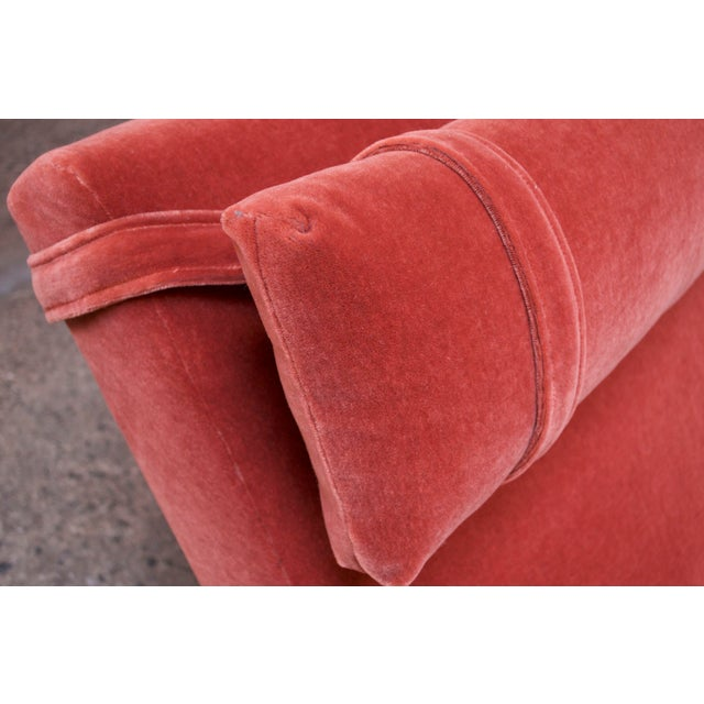 """Adrian Pearsall for Craft Associates """"Wave"""" Chaise Lounge in Coral Mohair For Sale - Image 9 of 13"""