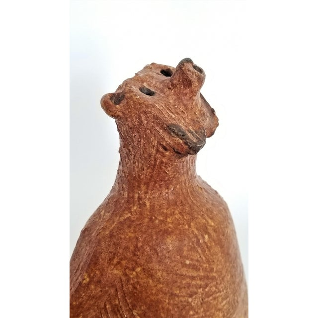 1970s Vintage 1970s Danish Modern Studio Art Pottery Bear Sculpture- Signed For Sale - Image 5 of 13