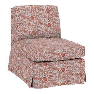 LuRu Home for Casa Cosima Slipper Chair, Prussian Carp, Paprika For Sale