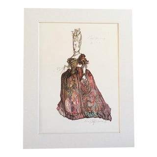 "Vintage Stratford Festival Design Folio, Richard Brinsley Sheridan's ""The School for Scandal"" Costume Print For Sale"