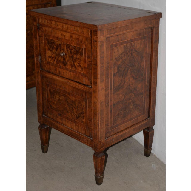 Pair of Magnificent Late 18th to Early 19th Century Walnut Side Tables W/ Cabinets For Sale In San Francisco - Image 6 of 9