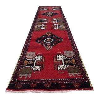 1980s Hand-Knotted Turkish Runner Rug - 1′8″ × 6′11″ For Sale