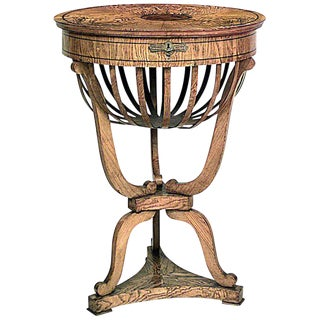 Austrian Biedermeier Ash Wood End Table For Sale