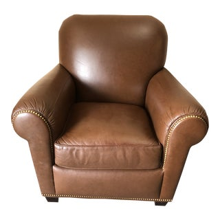 Leather Classic Club Chair For Sale
