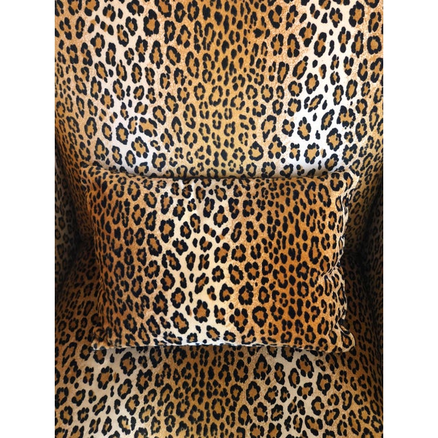 Yellow 1980s Hollywood Regency Cheetah Roll Arm Chair For Sale - Image 8 of 9