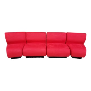 Mid Century Modern Don Chadwick Modular Sectional Sofa for Herman Miller Newly Upholstered - 4 Piece Set For Sale