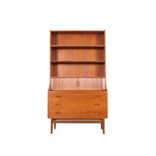 Danish Teak Secretary Desk and Bookcase by Johannes Sorth For Sale