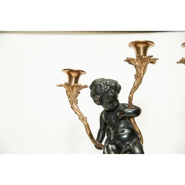 Italian Pair of Antique French Candelabra For Sale - Image 3 of 9