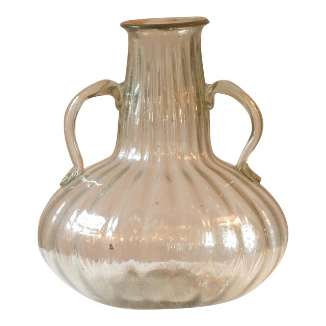 Early 20th Century Vintage Large Blown Glass Vase For Sale