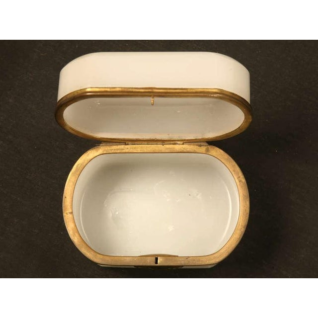 Glass Circa 1900 French Opaline Glass Box For Sale - Image 7 of 10