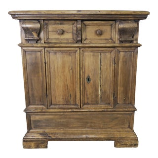 18th Century Italian Bleached Walnut Credenza For Sale