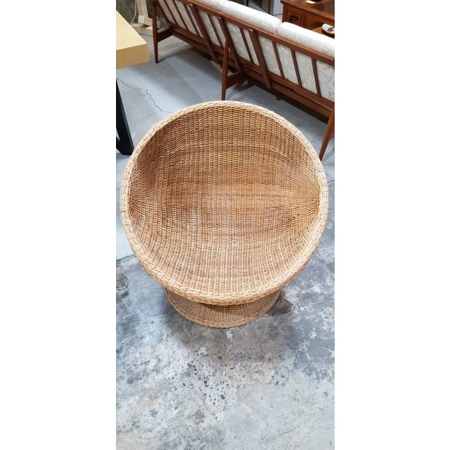 1970's Mod Rattan Lounge Chairs, a Pair For Sale In San Francisco - Image 6 of 10
