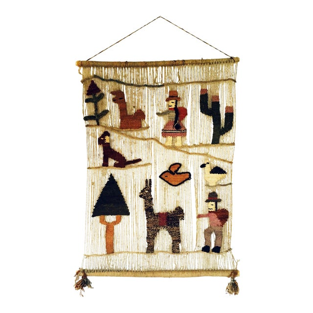 Vintage Peruvian Woven Wall Hanging - Image 1 of 6