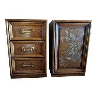 1970s Chinoiserie Henry Link Mandarin Nightstands End Tables - a Pair For Sale