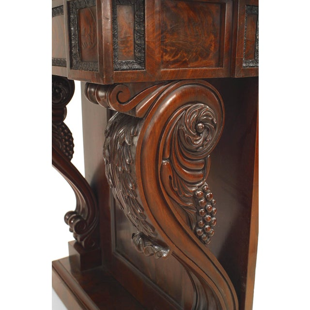 Mid 19th Century 19th Century English Regency Mahogany Console Table For Sale - Image 5 of 6