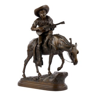 """""""Spanish Rider"""" Antique French Bronze Sculpture by Isidore Bonheur For Sale"""