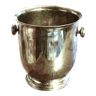 Mid Century Maestri Italian Silverplate Wine Holder, Bucket For Sale