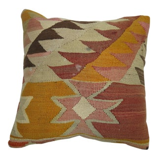 Vintage Kilim Rug Pillow For Sale