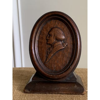 1920s Vintage Hand Carved Wood George Washington Bookend Preview