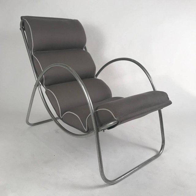 Pair of Halliburton Lounge Chairs, 1930s Art Deco Machine Age Modernist Design For Sale In New York - Image 6 of 10