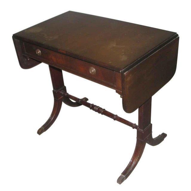 Duncan Phyfe Occasional Drop-Leaf Table For Sale - Image 6 of 10