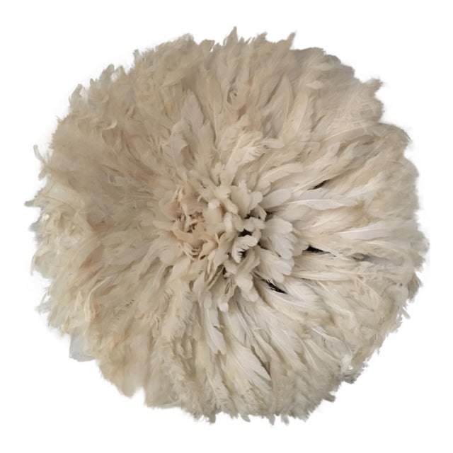 African Cameroon White Juju Hat - Image 1 of 3