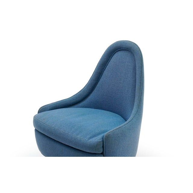1960s Swivel Chairs by Milo Baughman for Thayer Coggin-a Pair For Sale In Kansas City - Image 6 of 11