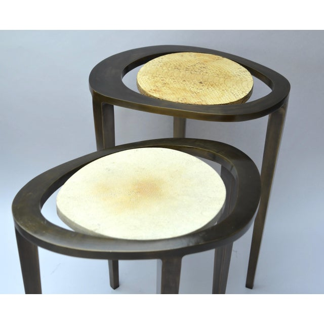 R & Y Augousti Bronze Nesting Side Tables - Image 6 of 10