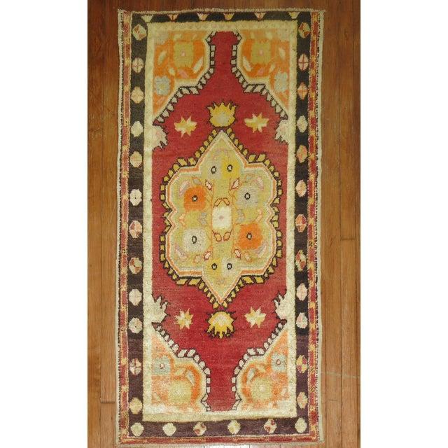 Vintage Turkish Oushak Rug - 5'3'' x 2'8'' - Image 2 of 4