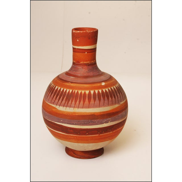Vintage Native American Brown Art Pottery Vase - Image 9 of 11