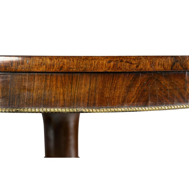 Fine Regency Rosewood and Inlaid Centre / Breakfast Table For Sale - Image 4 of 9