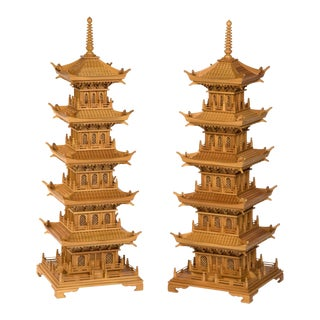 Large and Dramatic Pine Pagodas - A Pair For Sale