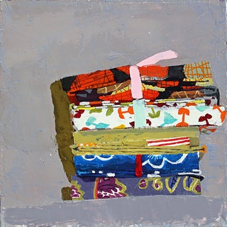 Still Life with Fat Quarters, oil on linen by Sydney Licht For Sale