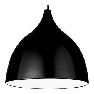 Matte Black and White Chrome Pendant Light