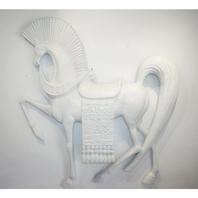 White Standing Etruscan Horse in the Style of Frederick Weinberg For Sale - Image 8 of 13