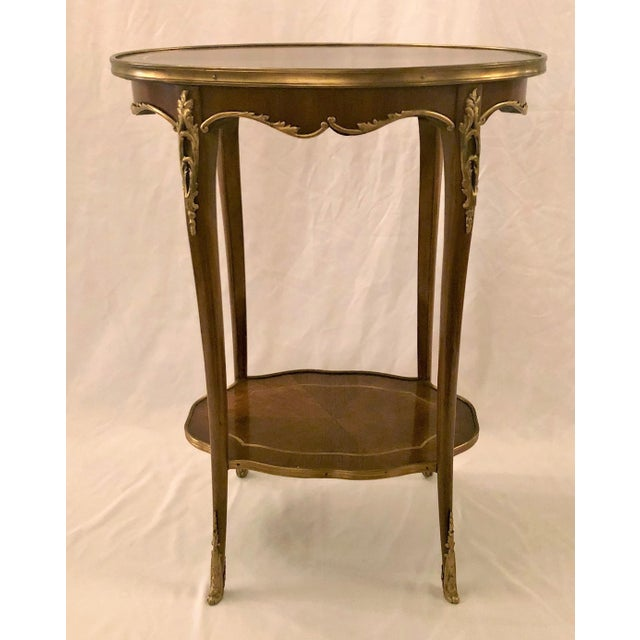 Late 19th Century Antique French Napoleon III Mahogany and Ormolu Occasional Table. For Sale - Image 5 of 5