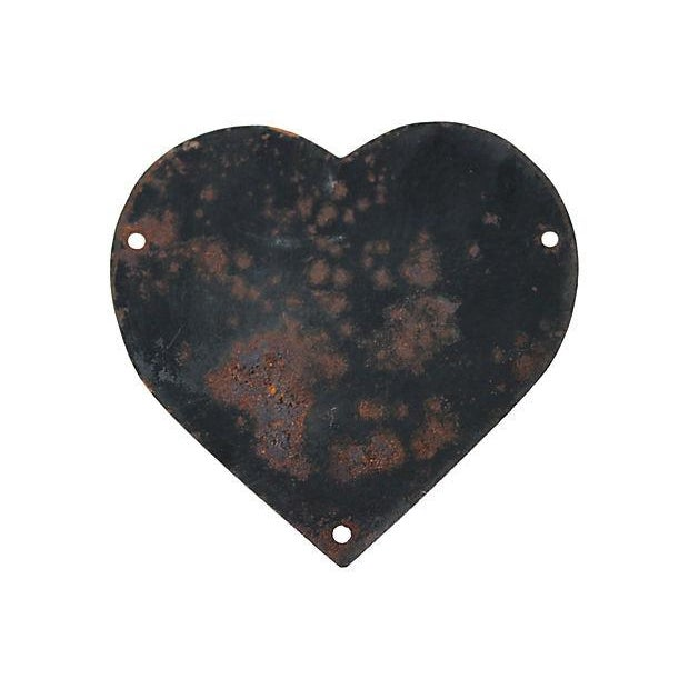 1936 French Enamel Heart Shaped Memorial Plaque - Image 2 of 2