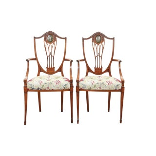 Antique Adams Chairs - A Pair For Sale
