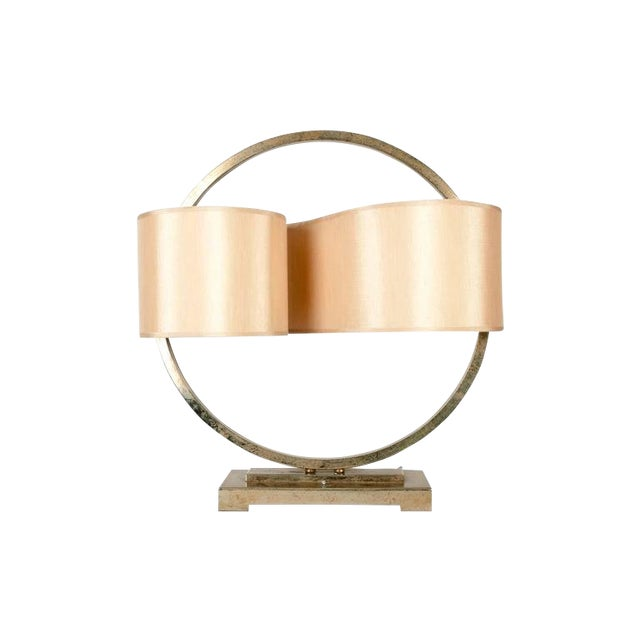 Modernist Table Lamp with Continuous Shade For Sale