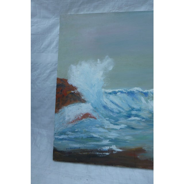 MCM Painting of Rocky Shore by H.L. Musgrave - Image 2 of 6