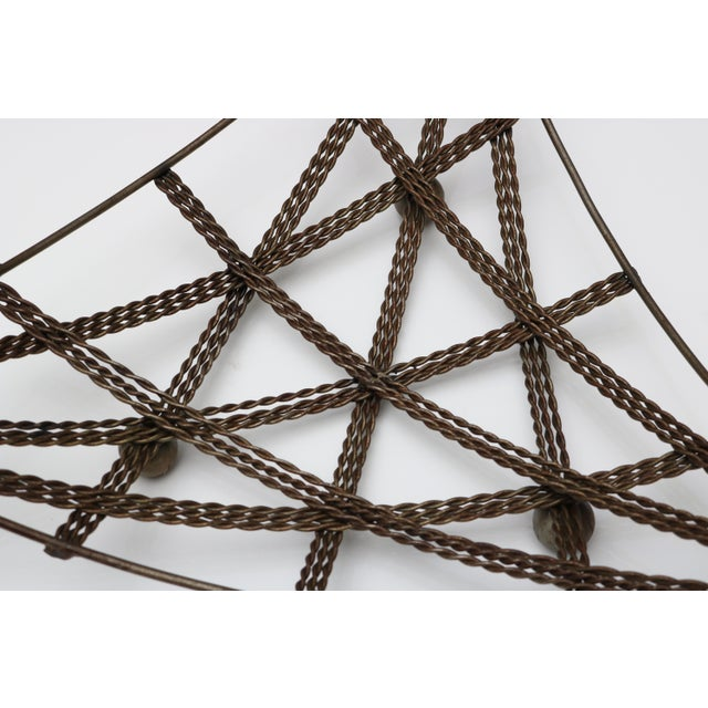 French French Geometric Wire Basket For Sale - Image 3 of 6