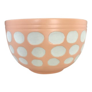 Peach Dot Bowl For Sale