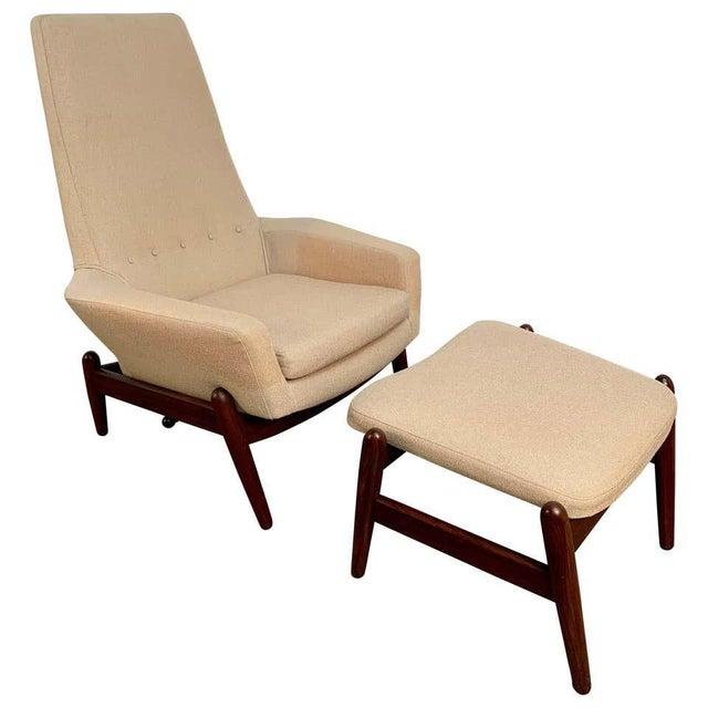 i.b. Kofod-Larsen High Back Lounge Chair Model Pd30 With Ottoman, Circa 1960 For Sale - Image 13 of 13