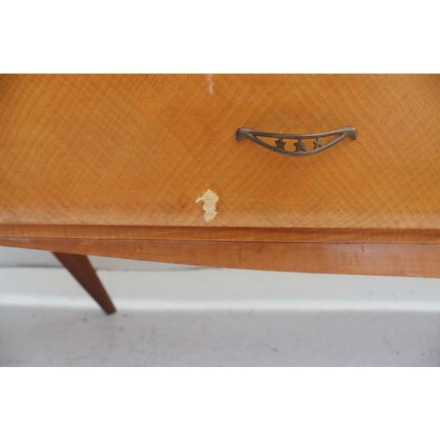 Piero Fornasetti Style Italian 1950's Oak Bar Credenza For Sale - Image 11 of 11
