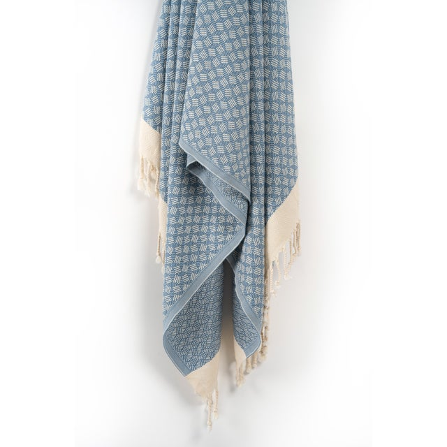 """""""This geometric luxury beach/bath/Spa towel is a work of art, which is handwoven on an ancient loom to achieve its double-..."""