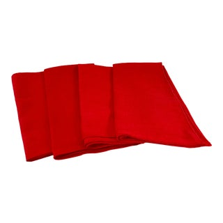 20th Century Country Red Dinner Napkins - Set of 4 For Sale