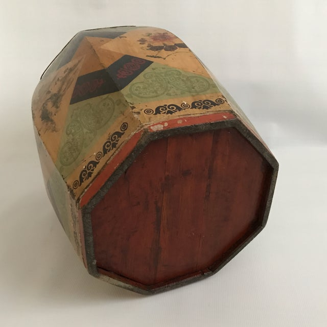 Green Chinese Octagonal Barrel & Lid For Sale - Image 8 of 11