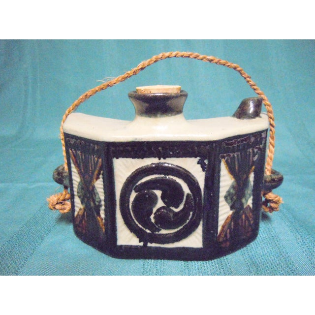 Chinese Hip Flask Pottery Canteen For Sale - Image 9 of 9