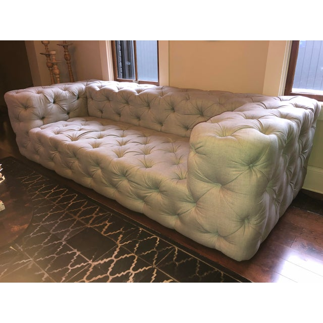 Modern Restoration Hardware Soho Tufted Sofa | Chairish
