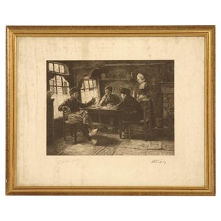 Authentic Jules Benoit-Lévy Engraving For Sale
